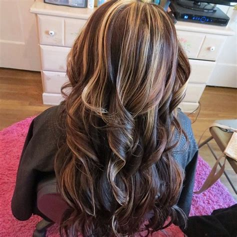 partial highlights on brown hair partial highlights on henna dark brown hairs