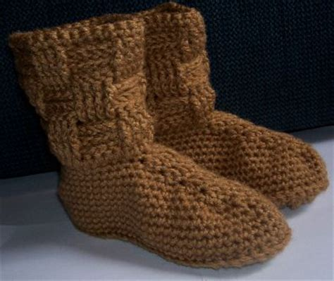 boat bed patterns boot slippers crocheted cabled boot slippers and