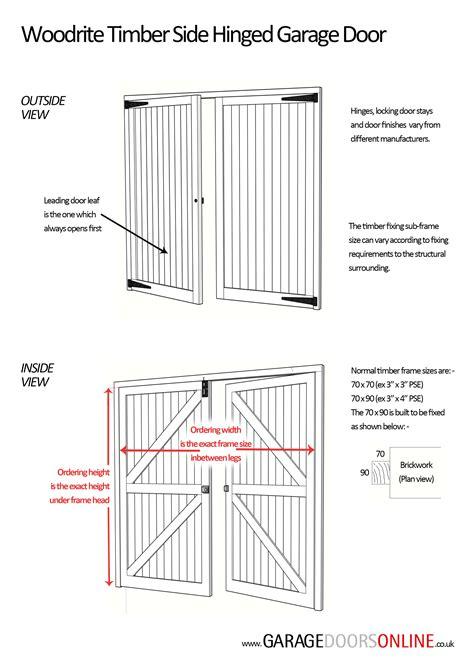 Garage Doors On Line Washford Woodrite Timber Cedarwood Side Hinged Side Hinged Garage Door At Garage Doors