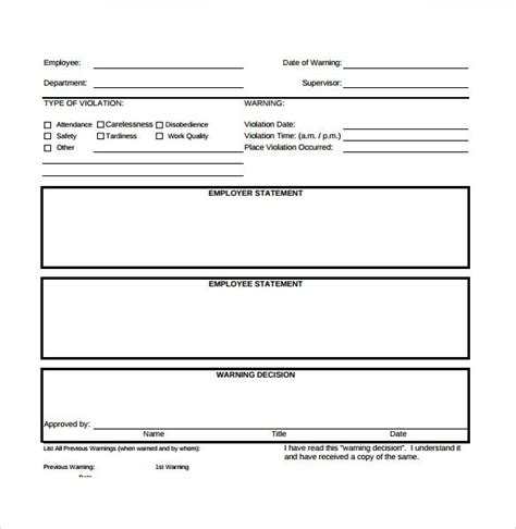 sle of employee write up 20 employee write up form templates word excel pdf