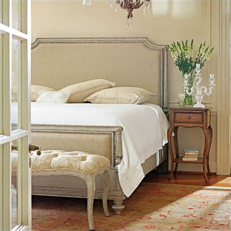 upholstered bedroom furniture stanley furniture arrondissement palais upholstered bed 3