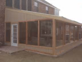 enclosed porch plans bench plan december 2014