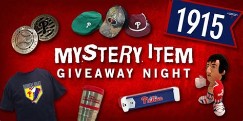 Philadelphia Phillies Giveaways - mystery giveaway item night philadelphia phillies