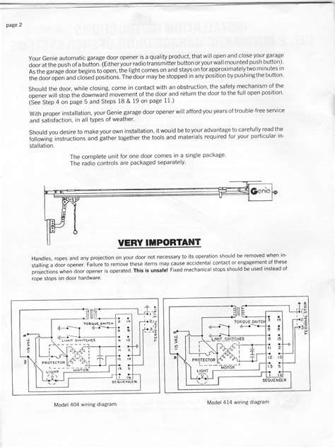 wiring diagram for a genie garage door opener wiring