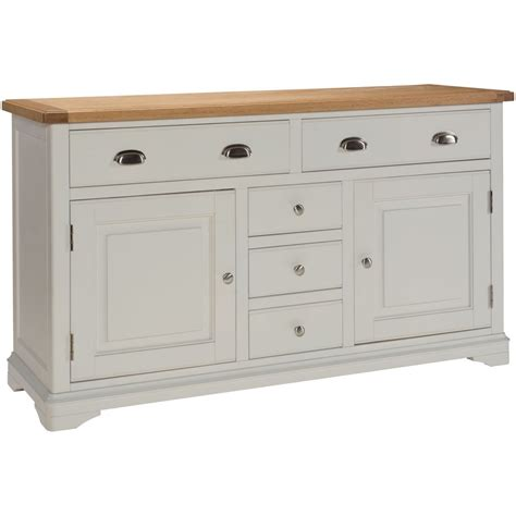 Grey Dining Room Sideboard Dillon Oak Grey Painted Furniture Large Living Dining Room