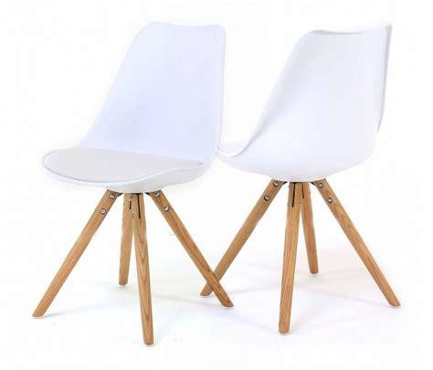 chaises design scandinave lot 2 chaises blanches design scandinave oris