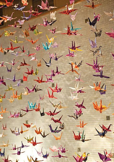 1000 Origami Cranes Wedding - paper cranes sadako and the thousand paper cranes