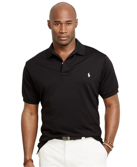 Polo Shirt Black Tide Original ralph polo mesh shirts