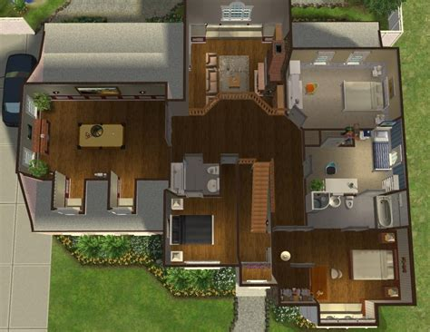 3 Bedroom Ranch House Plans mod the sims 5 bedroom colonial style house my 50th