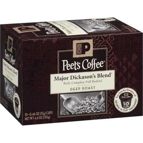 Peet's Coffee Major Dickason's Blend K Cups, 10 count: Beverages : Walmart.com