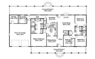 house plans one level one story ranch style house plans traditional house plan floor 028d 0072 house plans