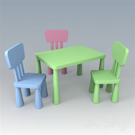 Table And Chairs Mammut by 3d Models Table Chair Children S Furniture