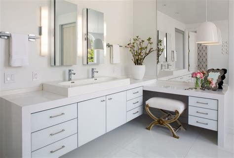 Nice Small Bathrooms longer vanity with l shaped vanity in the bathroom decohoms
