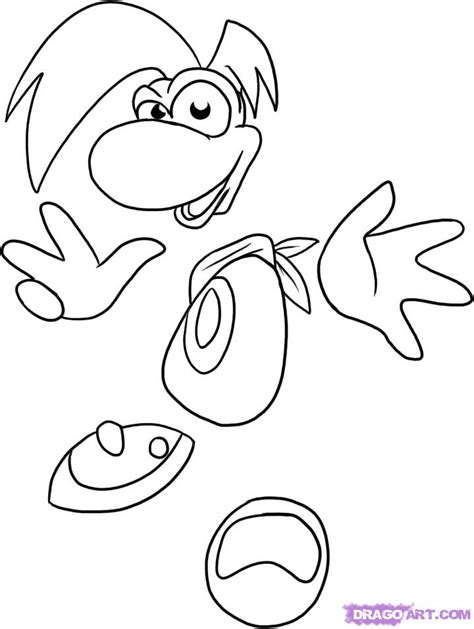 rayman coloring pages how to draw rayman step by step characters
