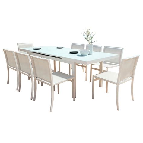 White Outdoor Dining Table Furniture.Van Glider Oval