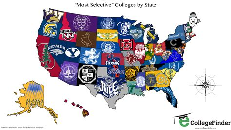 map of colleges in united states total frat move u s map shows the most selective