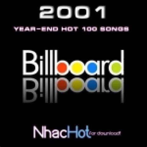2001 ending song billboard top 100 2001 spotify playlist
