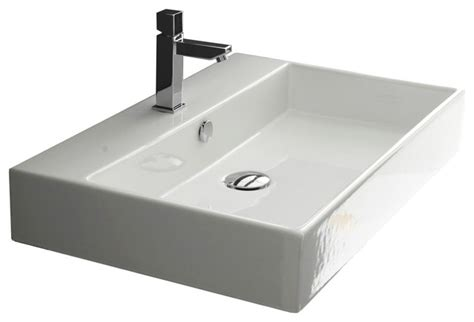 28 Quot Ada Compliant Ceramic Wall Mounted Vessel Bathroom Ada Compliant Bathroom Sinks