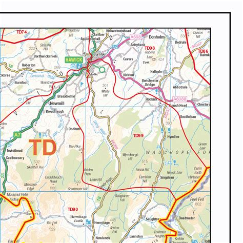 printable area in dtp postcode sector map s15 south west scottish borders