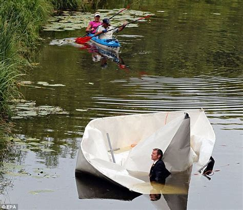 how to make a paper canal boat designer frank bolter builds 27ft long paper boat that