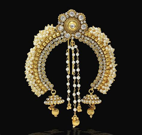 buy sia art jewellery juda pin with attached earrings for buy pearl stone design indian wedding designer hair pin