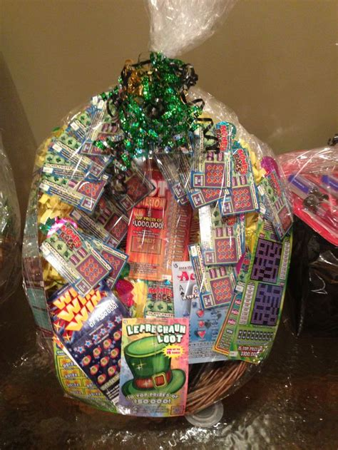 birthday themed raffle basket lottery basket baskets of cheer pinterest baskets
