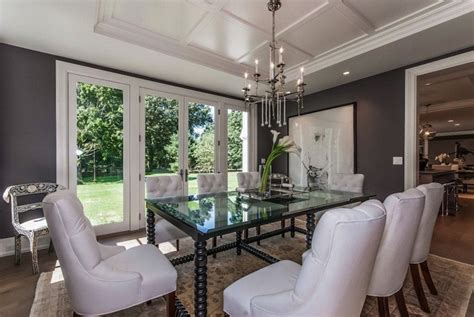 Dining Room Tray Ceiling by Tray Ceiling Transitional Dining Room Milton Development