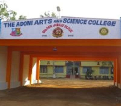 Mba Colleges In Adoni by Adoni Arts And Science College Adoni Admissions