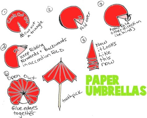 How To Make A Paper Umbrella Origami - 25 best ideas about paper umbrellas on