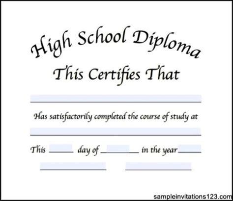 50 Free High School Diploma Template Printable Certificates High School Graduation Certificate Template