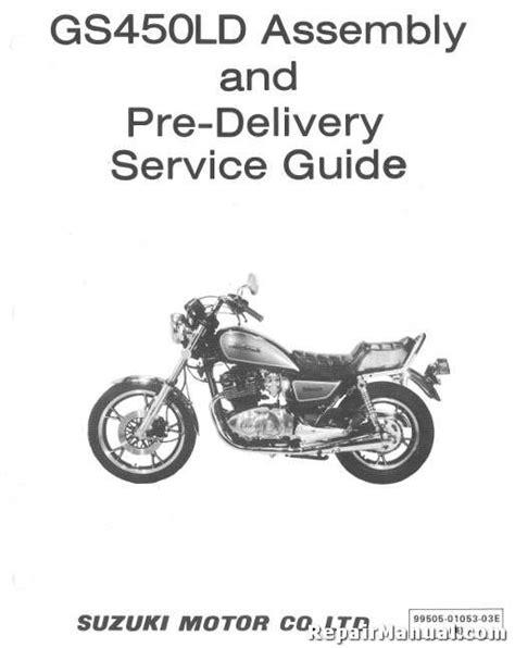 Suzuki Motorcycle Manual 1983 Suzuki Gs450ld Motorcycle Assembly Manual