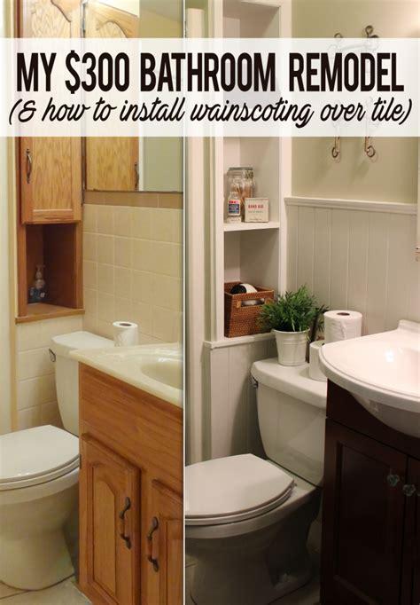 bathroom remodel diy demolition 300 bathroom remodel installing shiplap or paneling tile avaz international