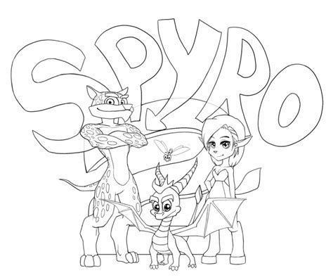 coloring pages of spyro the dragon spyro coloring pages coloring home