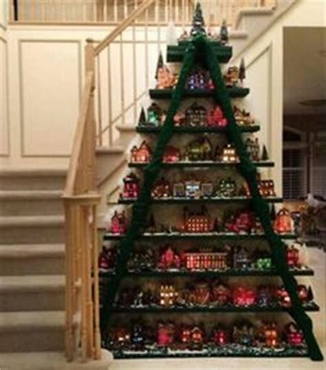 christmas village tree display pattern 1000 images about christmas villages on pinterest