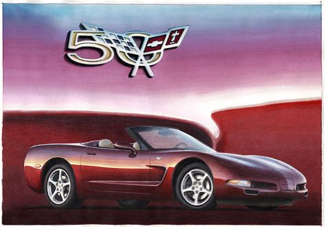 30th anniversary corvette 50th anniversary corvette painting by rod seel
