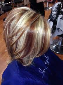 hair highlights and lowlights for dark brown hair with blonde highlights and red lowlights