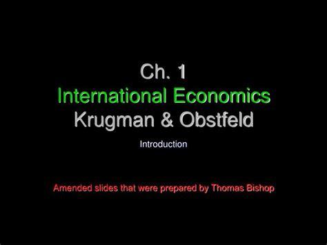 International Economics 1 ppt ch 1 international economics krugman obstfeld powerpoint presentation id 5444038