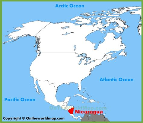 nicaragua location on world map nicaragua location on the america map