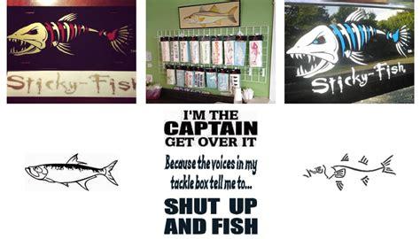 saltwater fishing decals vinyl stickers boats trucks - Boat Brand Decals