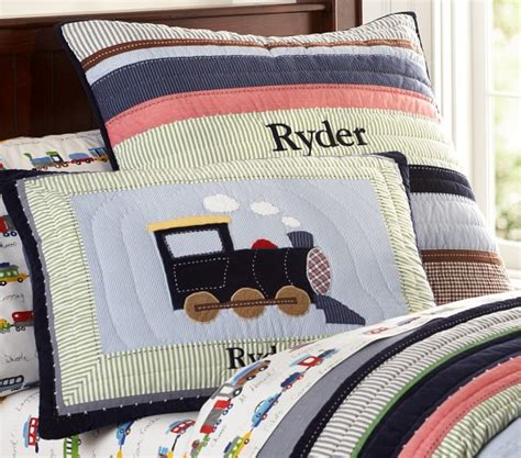Pottery Barn Sleeping Bags Ryder Train Quilt Pottery Barn Kids