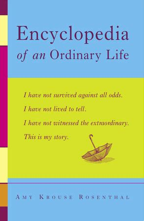 biography encyclopedia book encyclopedia of an ordinary life by amy krouse rosenthal