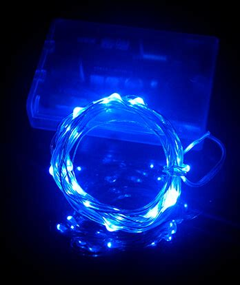 40 static icicle led lights blue and white led decorative light micro mini battery operated led