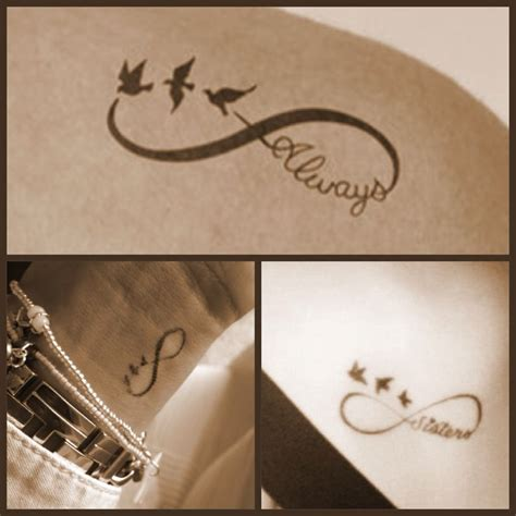 best friend infinity tattoos infinity with three swallows for my me and my