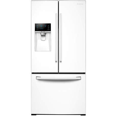 Door Refrigerator White by Samsung 33 In W 25 5 Cu Ft Door Refrigerator In