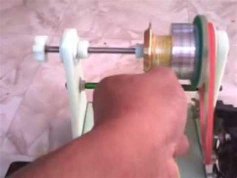 Benang Pancing V Tro menggulung benang ke spool reel pancing