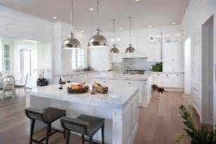 Kitchens With Two Islands Mirrored Refrigerator Transitional Kitchen Caden