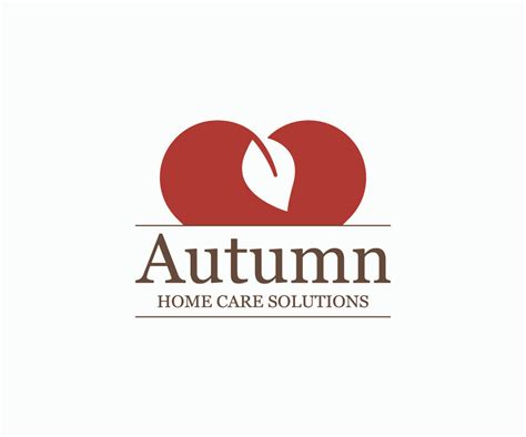 autumn home care logo joshua paul design