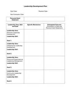 leadership development plan template best photos of personal development plan template sle