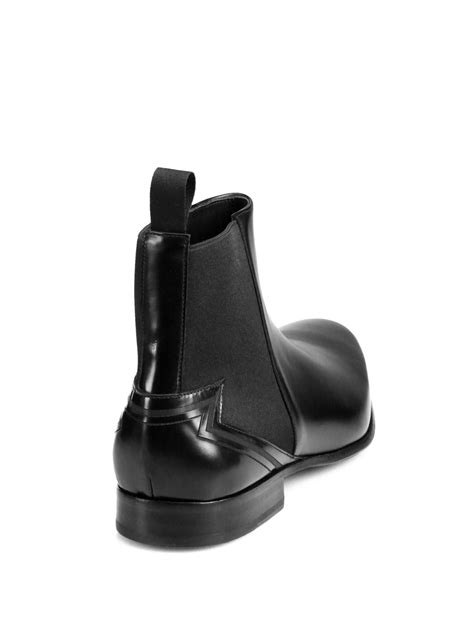 kenzo mens boots kenzo tremayne leather chelsea boots in black for lyst