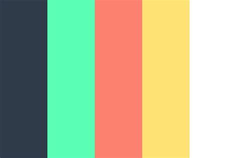 flat color palette flat n bright color palette